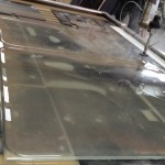 forklift machine windscreen glass