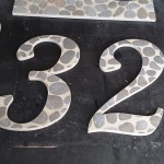 Custom tile house number sign