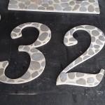 Custom tile house number sign